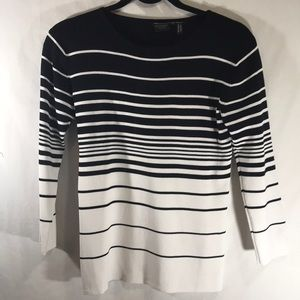 Michelle Nicole Womens Tops Size Large White Black